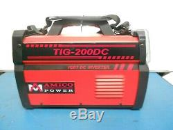 Amico Power TIG-200DC, 200 Amp TIG-Torch, Stick Arc DC 110/230V Inverter Welder