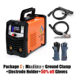 HITBOX 110Amp 220V LIGT TIG MMA ARC Welder Semi Arc Welder Anti Stick Inverter