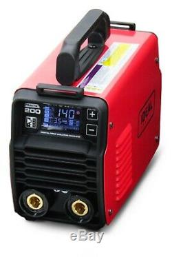 MMA ARC Welder Inverter 200AMP LED 6m CABLE IGBT TIG Stick Synergy Portable DC